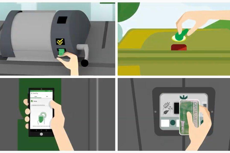 Sensori intelligenti per la raccolta rifiuti